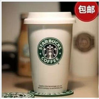 Authentic starbucks mug creative white porcelain cup with cover ceramic coffee cup couples free shipping