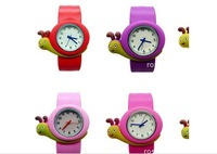 W14 Min.Order $8 (Mix Order) Free Shipping Wholesale Cute 9 Colors Rubber Cartoon Snail Children Watch