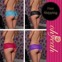 P5011 Free shipping panties women micro thong underwear women's underwear briefs ohyeah panties open crotch panties