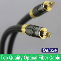 1.5M 5FT Top Quality Deluxe Digital Audio Optical Optic Fiber Audio Cable for CD/DVD/DAT/LD/HDTV, Hi-fi, Free Shipping