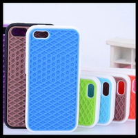 Grid Design Van Sole Shoes Case For Iphone 5C Waffle Soft Silicone Cover For Iphone5C Free Shipping