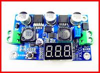 2pcs/lot,dc dc Auto boost buck converter step-up step-down module Voltage power Module +Digital voltmeter blue pcb board