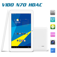 Original 7'' inch IPS Vido N70 HDAC Quad Core ATM7029 Android tablet pc 1280X800 pixels Screen 1GB 16GB Wifi HDMI