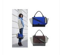 Designer Inspire Fashion 2015 Vintage bolsas Trapeze Big Ears Smiley Swing Women Celebrity Handbag women messenger bags mochila