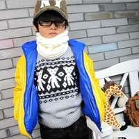 2013 New Fashion Kids Children's  Winter Knit Circle Loop Cowl Infinity Scarf Snood Scarves Wraps Free Shipping