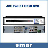 HDMI 4ch CCTV DVR Recorder Full D1 Recording Playback Network Standalone DVR Recorder With 4ch Audio Android Phone View