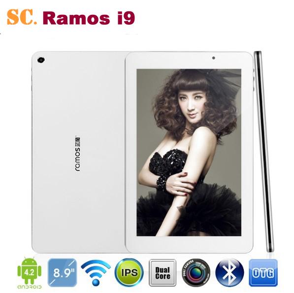 Original Intel Atom Z2580 Dual Core 8.9 Inch Ramos i9 Tablet PC IPS 1920*1200 Android 4.2 Dual Camera 2G 16G Bluetooth GPS(China (Mainland))