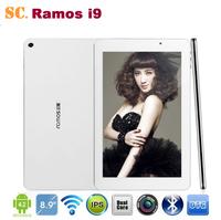 Original Intel Atom Z2580 Dual Core 8.9 Inch Ramos i9 Tablet PC IPS 1920*1200 Android 4.2 Dual Camera 2G 16G Bluetooth GPS
