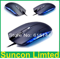 10pcs 2013 New Arrival Hot Sale Optical 1600 DPI USB Wired Gaming Game Mouse For Games PC Laptop Black COM-M01 Free shipping