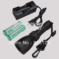 Underwater 1000Lm 100 M Diving flashlight light lamp torch led T6 Cree XM-LSwimming w/18650+Charger  shipping via DHL Free