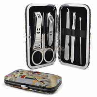 *NEW sale Portable 6-in-1 Stainless Steel Nail Manicure Personal Beauty Set With Case 10855