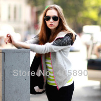 2013 New Lace Cardigan Loose Women Hoodies Sweatshirt