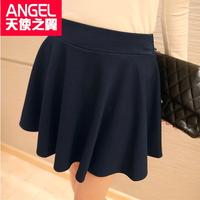 New 2014 Female Pleated Skirt Package Buttocks Skirts Black Basic Short Skirt Puff Skirt
