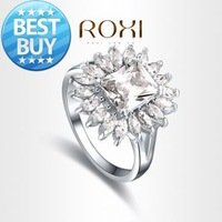 ROXI Exquisite beatiful Rings platinum plated with AAA zircon,fashion Environmental Micro-Inserted Jewelry,101013726