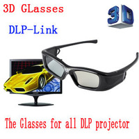 free shipping the  active shutter 3D glasses for For Optoma, BenQ, Acer and ViewSonic all the DLP-Link 3D Projector