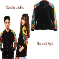 2013 Branded coat Designer New Couple lovers Jacket Patchwork Tops Tropical Floral Print Camouflage Patten black Women Jacket