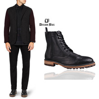 Dream box hodginsii for males autumn and winter high-tops high-hells mens boots leather shoes
