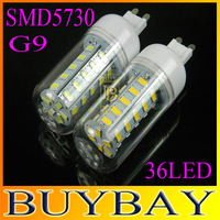 G9 LED corn bulb lamp, 36LED  SMD5730, Warm white /white,5730 SMD led lighting