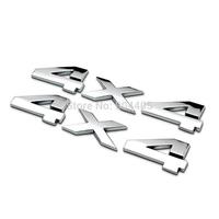 Car Emblem Metal Chrome 3D 4X4 Displacement Emblem Badge truck auto motor sticker decal For SUV