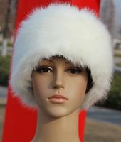 Vivi Winter Female Faux Fur Hats Artificial Fur Flat-top Snow Cap Dome Cap Russian Hat