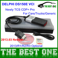 2013 Release 1 Newest Delphi DS150e VCI With Out Bluetooth For CARS TRACKS DS150 Delphi Diagnstic Tool Tcs Cdp Pro Free Shipping