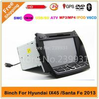 Car dvd gps HYUNDAI Santa Fe/ix45 2013 GPS Navigation with DVD,GPS,POD,BT,ATV,3GWIFI ,RADIO,all function+map gift!
