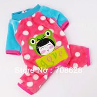 4Color Cute Animal Prints Pet Puppy Four Legs Jumpsuit Winter Warm Flannel Pajamas Overalls Large Dog Clothes S M L XL XXL