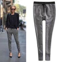 Women Sport harem Pants Sweatpants New 2014 Fashion Autumn Summer Linen Cotton High Waist Sports Pants Skinny Trousers For Women
