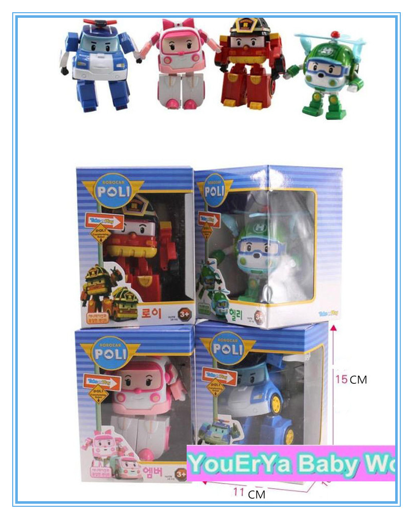 Hot sale with retail pack Robocar poli car bubble South Korea Thomas toys 4 models for your choose(China (Mainland))
