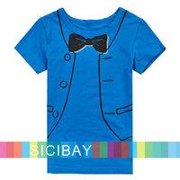 new Boys Girls T-Shirt  Kids Gentle bow design Tops Summer fashion Short sleeve T shirts for children Free Shipping K0120