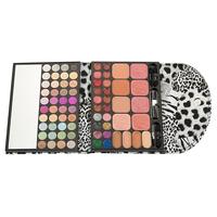 Leopard Print 3 Dimensional Make Up Kit Eyeshadow+Lipgloss+Blusher+Pressed Powder  Slap-up Glitter Eyeshadow Shimmering Powder