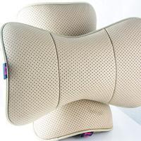 Car headrest genuine leather neck pillow car cushion car headrest a pair of car pillow bone pillow