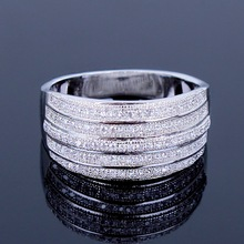 2015 New Arrival Freeshipping Trendy Latest Design Office Ladies Rings Aaa Machine Cutting Zirconia Top Quality