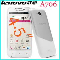 Original Lenovo A706 MSM8225Q 1.2GHz Quad Core 3G Phone 1GB RAM 4GB ROM 854*480 IPS Screen Dual Camera 5.0MP Camera
