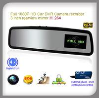 3inch full HD1080P Car DVR Camera recorder rearview mirror