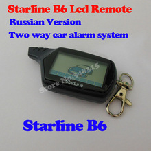 Free shipping LCD Remote For Russian version Starline B6 Two way car alarm system starline B6 LCD two way car remote(China (Mainland))