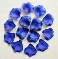 Free shipping 2000pcs Blue Silk Rose Petals Artificial Flower Wedding Favor Bridal Shower Aisle Vase Decor Confetti