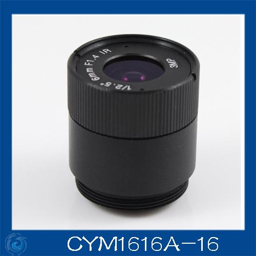"3MP. cctv camera lens 16mm Fixed Iris lens, 1/2.5"" cs for Security Camera, Free shipping.CYM1616A-16(China (Mainland))"