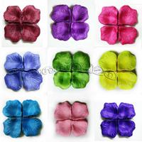Free shipping Wholesale - MIC 2000Pcs Silk Rose Petals Wedding Flowers favors Decoration  Jewe lry DIY Flower Petals Leaves