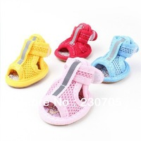 Pet Dog Summer Gridding Shoes, Mesh Breathable Casual Shoes, Anti-skidding Boots, Cool Sandal, Wholesale 4pcs/set Free Shipping