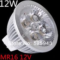 Free shipping 145pcs/lot High Power Dimmable MR16 GU10 E27 E14 GU5.3 4x3W 12W Spotlight Lamp CREE LED 12V Light Bulb Downlight