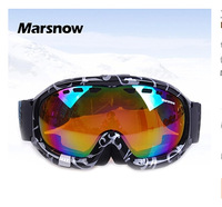 Hot selling New style Free shipping Ski goggles Ski glasses Large field double-layer anti-fog UV ski goggles