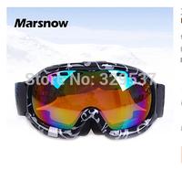 Hot selling New style Free shipping Ski goggles Ski glasses Large field double-layer anti-fog UV ski goggles