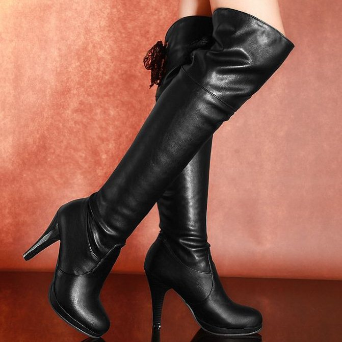 Ladies Sexy Long Boots Female 2013 Autumn high-leg boots leather High Heels Fashion Ankle boots Women motorcycle boots RH790(China (Mainland))