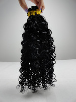 100%Brazillian  Virgin Hair Natural Color Jerry  Curl Hand Tied Weft Hair,Wholesale Price