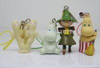 Finland Animation 4pcs Moomin Valley Snufkin Floren Hippo Figure Cell Phone Strap FSM3