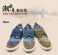 Korean denim style autumn-summer canvas blue For mens sneakers new 2014 shoes men casual discount online zapatos de hombre
