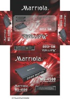 HOT SELL 4 CHANNEL   CAR  AMPLIFIER MS-4500