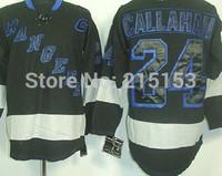 China Sports Hockey Jerseys New York  NY Rangers 24 Ryan Callahan BLACK Hockey Jerseys with C Patch Wholesale