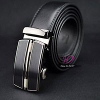 2014 new men's fashion Auto lock steel buckle genuine leather Automatic buckle belt men leather strap free shipping